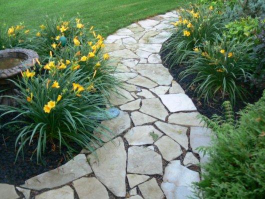 Flagstone Walkways » Artistic Landscaping | Thunder Bay Ltd.