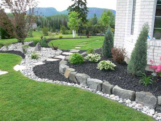 Unique shrub bed designs artistic landscaping thunder for Large flower bed design ideas